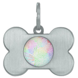 Rainbow Cat Fur Pet ID Tag