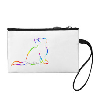 Rainbow cat silhouette, inside text change purses