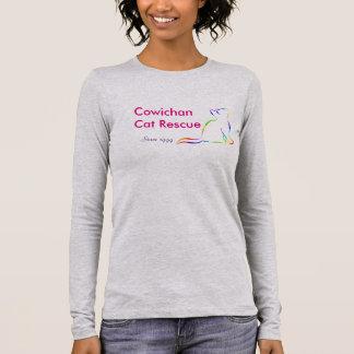 Rainbow cat silhouette long sleeve T-Shirt