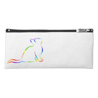 Rainbow cat silhouette pencil case