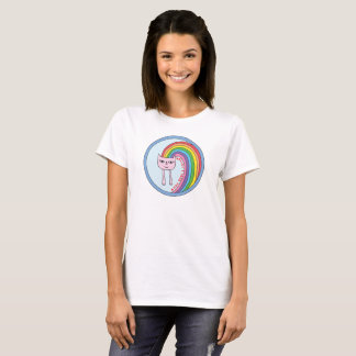 Rainbow Cat T-shirt for Women