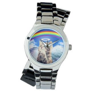 rainbow cat wrist watch