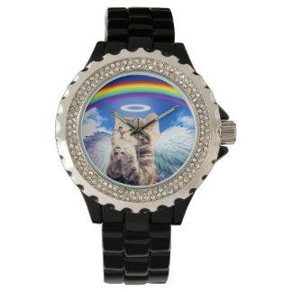rainbow cat wristwatch
