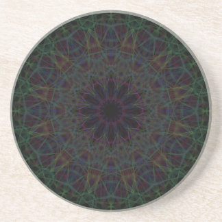 Rainbow Cathedral Mandala Coaster