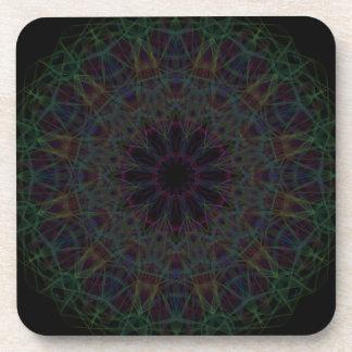 Rainbow Cathedral Mandala Coaster