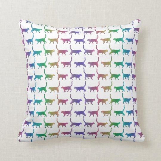 Rainbow Cats On Any Custom Colour Pillow