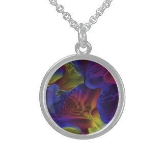 Rainbow Caves Sterling Silver Necklace