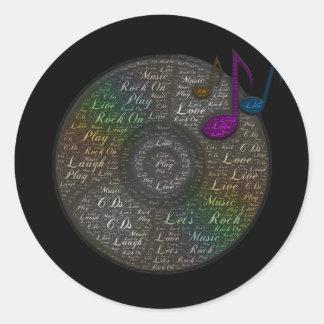Rainbow CD sticker