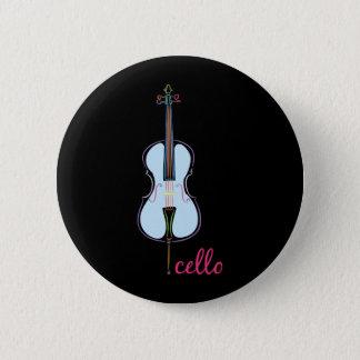 Rainbow Cello 2 Inch Round Button