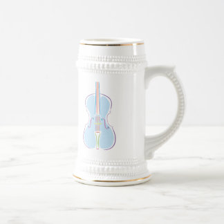 Rainbow Cello Beer Stein