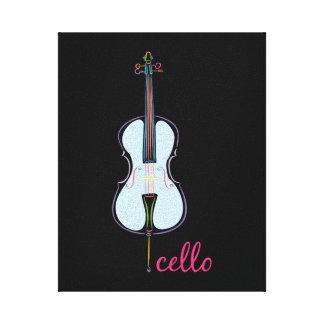 Rainbow Cello Canvas Print