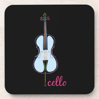 Rainbow Cello Coaster