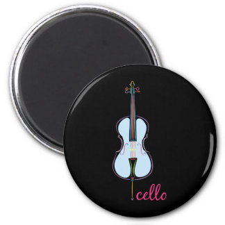 Rainbow Cello Magnet