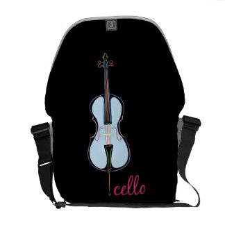 Rainbow Cello Messenger Bag