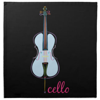 Rainbow Cello Napkin