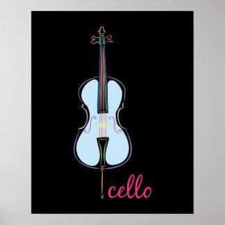 Rainbow Cello Poster
