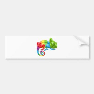 Rainbow Chameleon Bumper Sticker
