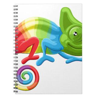 Rainbow Chameleon Notebook