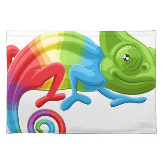 Rainbow Chameleon Placemat
