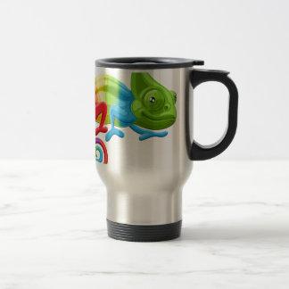 Rainbow Chameleon Travel Mug