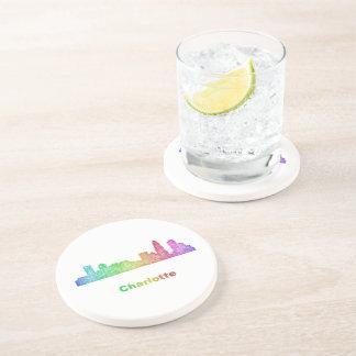 Rainbow Charlotte skyline Beverage Coasters