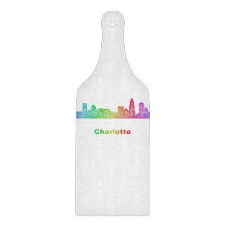 Rainbow Charlotte skyline Cutting Board