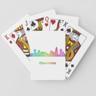 Rainbow Charlotte skyline Playing Cards