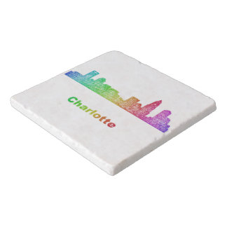 Rainbow Charlotte skyline Trivet