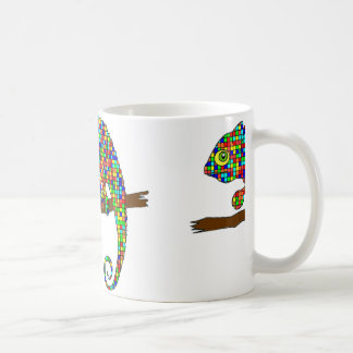 Rainbow Checkered Chameleon Mug