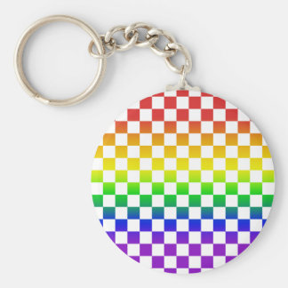 Rainbow Checkers Keychain 01