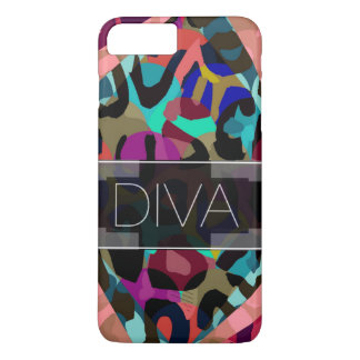 Rainbow Cheetah Diva iPhone 7 Plus Case