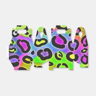 Rainbow Cheetah Leopard Print Party Favor Boxes
