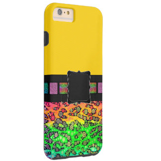 Rainbow Cheetah Monogram Tough iPhone 6 Plus Case