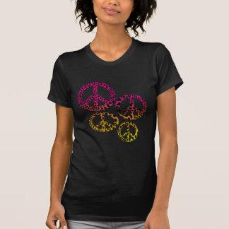 Rainbow Cheetah Peace Signs T-Shirt