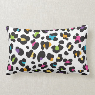 Rainbow Cheetah Print Throw Pillow