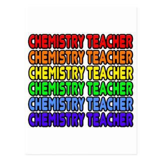 Rainbow Chemistry Teacher Postcards