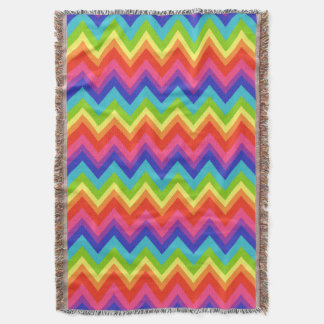 Rainbow Chevron Bed Throw Blanket Gift
