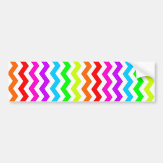 Rainbow chevron bumper sticker