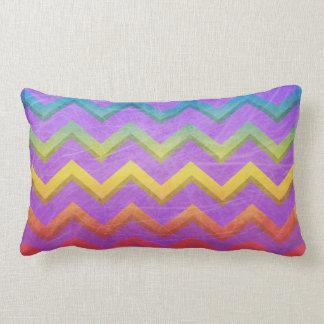 Rainbow Chevron by Shirley Taylor Lumbar Pillow