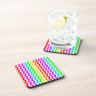Rainbow chevron coaster