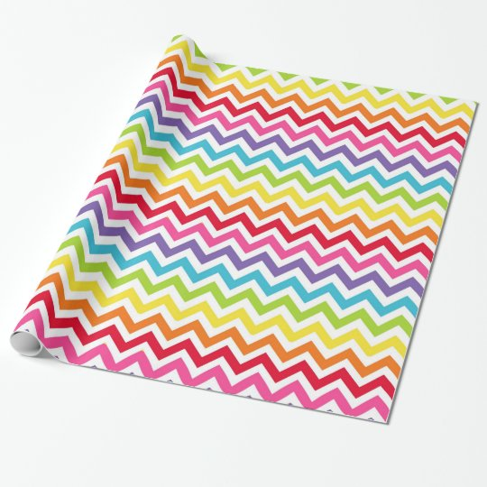 Rainbow Chevron Gift Wrap