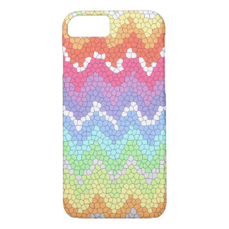 Rainbow chevron stained glass iPhone 7 case