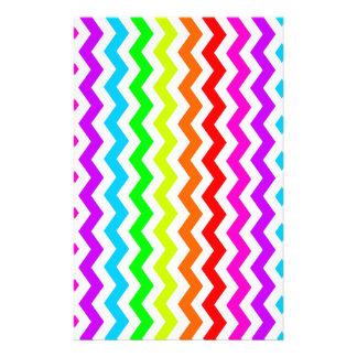 Rainbow chevron stationery