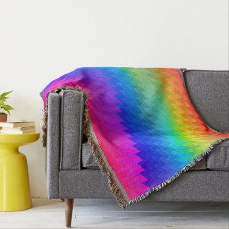 Rainbow chevron throw blanket