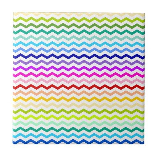 Rainbow chevron tile