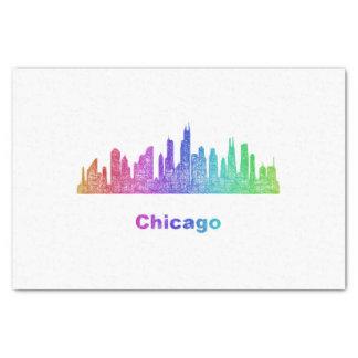 Rainbow Chicago skyline Tissue Paper