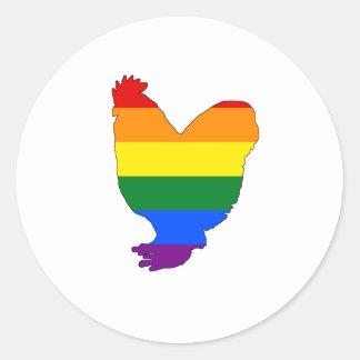 Rainbow Chicken Classic Round Sticker