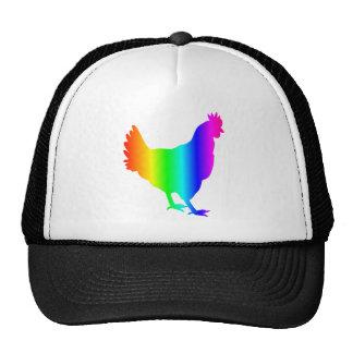 Rainbow Chicken Trucker Hat