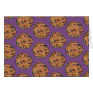 Rainbow Chocolate Chip Cookie Baking Sweets Purple Card