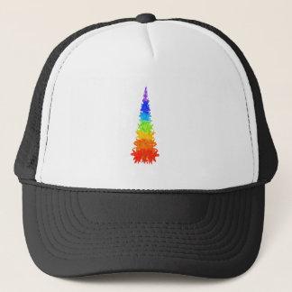 Rainbow Christmas Tree Trucker Hat